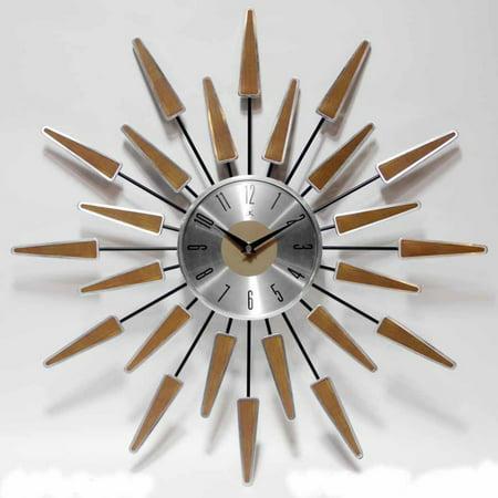 Infinity Eiffel Tower Wall Clock - Infinity Instruments Satellite 23W x 23H in. Wall Clock