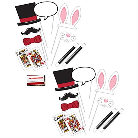 Magic Magician Show (20 pcs) Party Photo Booth Props (Plus Party Planning Checklist by Mikes Super Store) ()