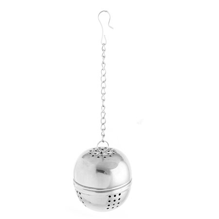 Kitchen Round Stainless Steel Ball Strainer Tea Leaf Spice Perfume Infuser - image 2 of 2