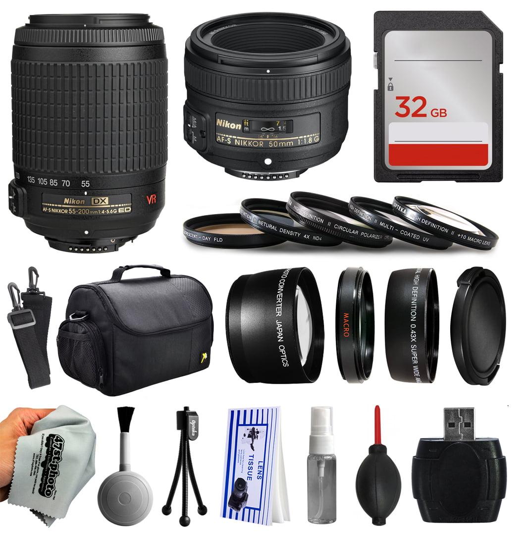 Opteka Beginner Accessories Bundle for Nikon DF D7200 D71...