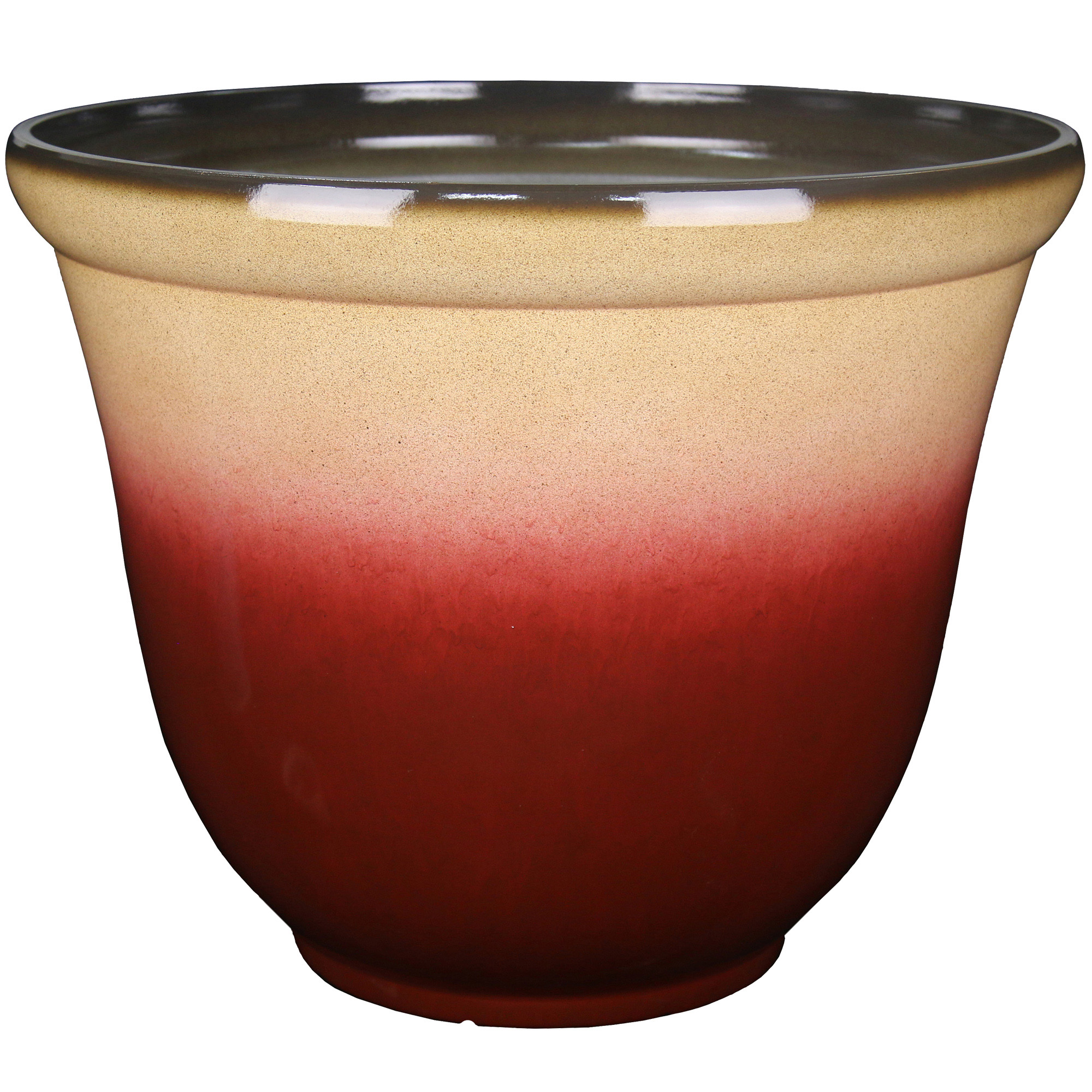 22IN OMBRE PLANTER RED