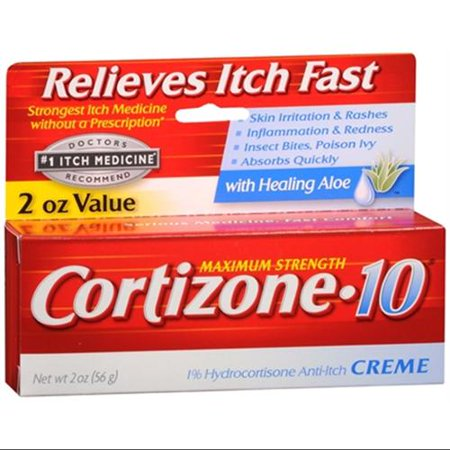 Cortizone-10 Force maximale Anti-Itch Crème Aloe 2 oz (Pack of 2)