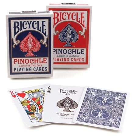 Playing Card Deck (2 Decks Bicycle Rider Back Standard Pinochle Playing Cards Red and)