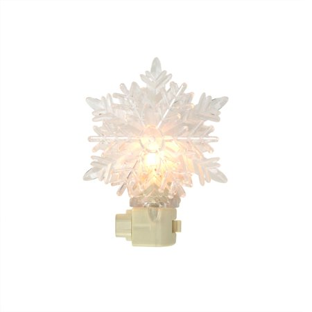 "5.75"" Snowy Winter Decorative Clear Snowflake Christmas Night Light - image 1 de 1"