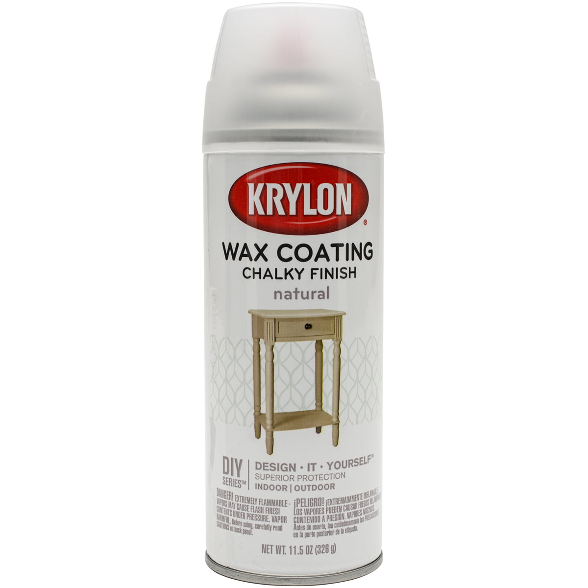 Chalky Finish Aerosol Spray Paint 12oz-Natural Wax Coating