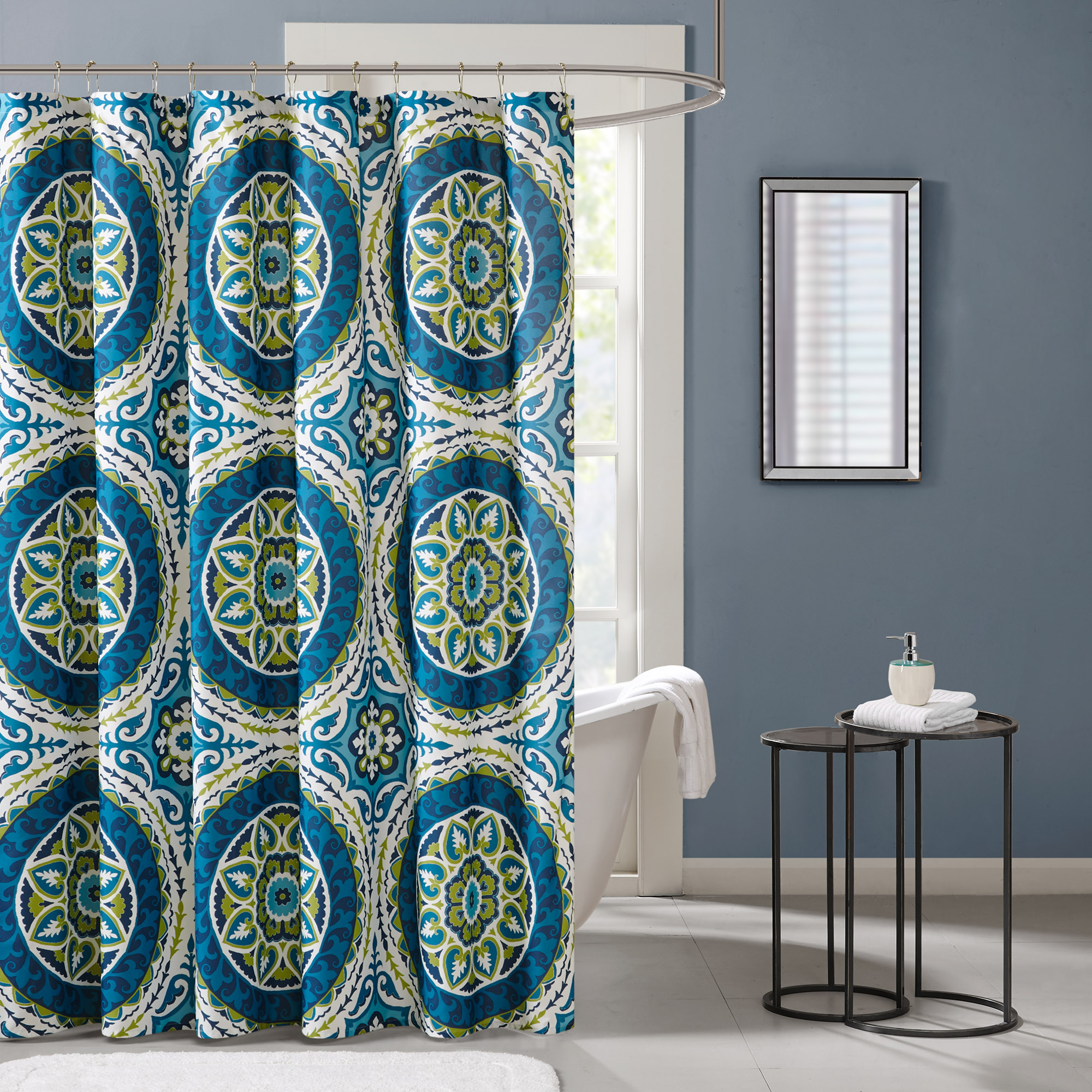 "Home Essence Nepal Printed Shower Curtain 72""W x 72""L"