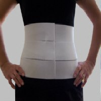 "9"" Three Panel - Elastic Abdominal Binder & Waist Trimmer (Large)"