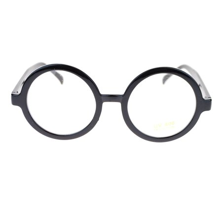 Halloween Make Up If You Wear Glasses (Sunglasses Harry Potter Glasses Nerd Geek Round Eye Dress Up)
