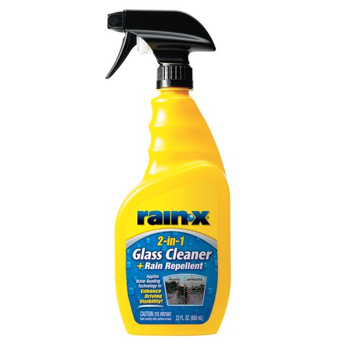 Rain-X 2-in-1 Glass Cleaner with Rain Repellent, 23oz