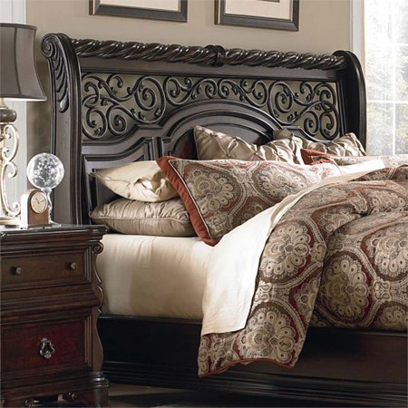 Liberty Furniture Arbor Place King Sleigh Headboard in Brownstone