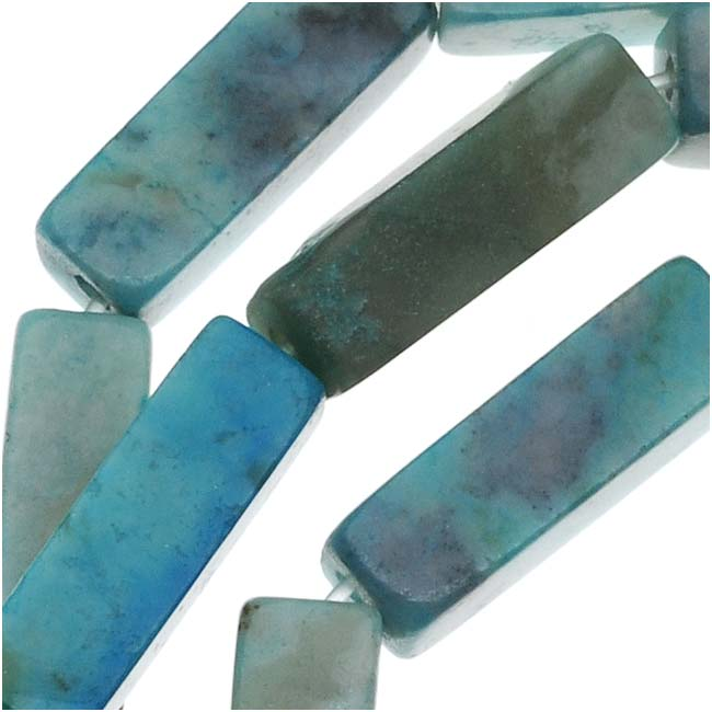 Turquoise Jasper Rectangle Tube Beads 4 x 13mm/15 Inch Strand