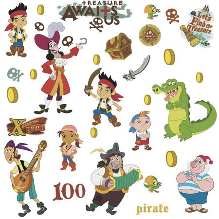 JAKE AND THE NEVERLAND PIRATES BiG Wall Stickers Room Decor Decals CAPTAIN HOOK