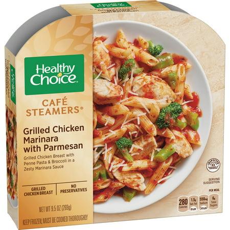 Chicken Parmesan Marinara - Healthy Choice Cafe Steamers Chicken Marinara, 9.5 oz, Pack of 8