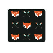 OTM Prints Black Mouse Pad, Mr. Fox