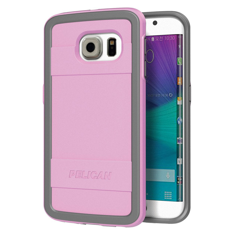 Pelican ProGear Protector Series for Samsung Galaxy S6 edge SM-G925F - Pink/ Gray