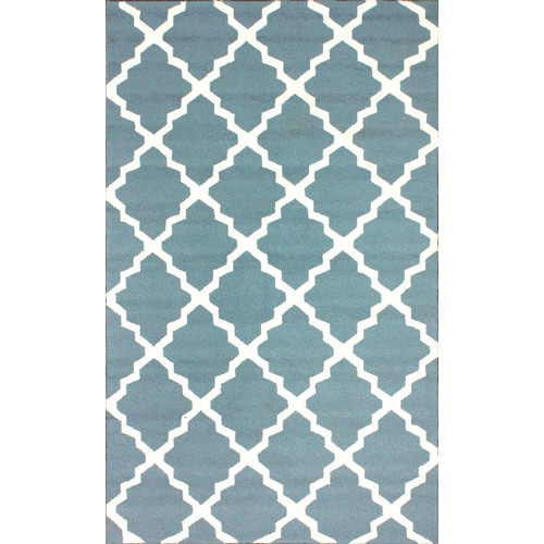Nuloom 4' x 6' Hand Hooked Fiona Area Rug in Light Blue