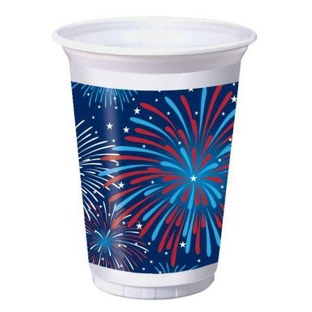 Creative Converting Patriotic Party Printed Plastic Cups, 16Oz, 8 ct