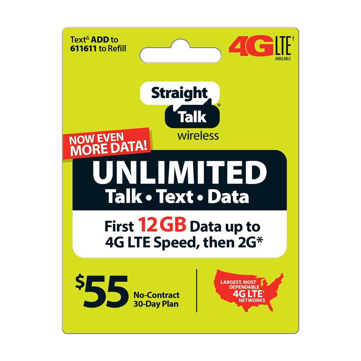 Straight Talk $55 Unlimited 30 Day Plan (Email Delivery)