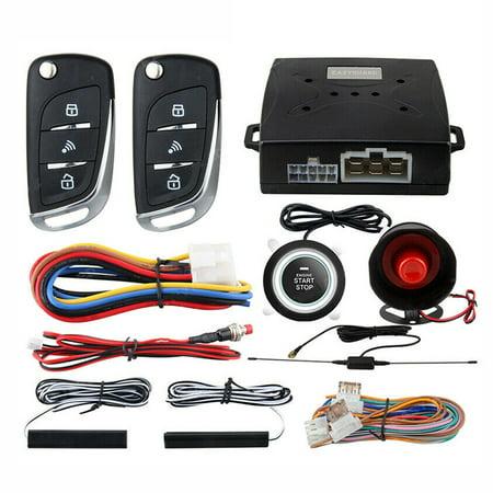 PKE Car Anti-theft Alarm Keyless Entry System Push Button Remote