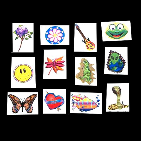 Temporary Tattoos Assortment - 144 per pack](Temporary Kids Tattoos)