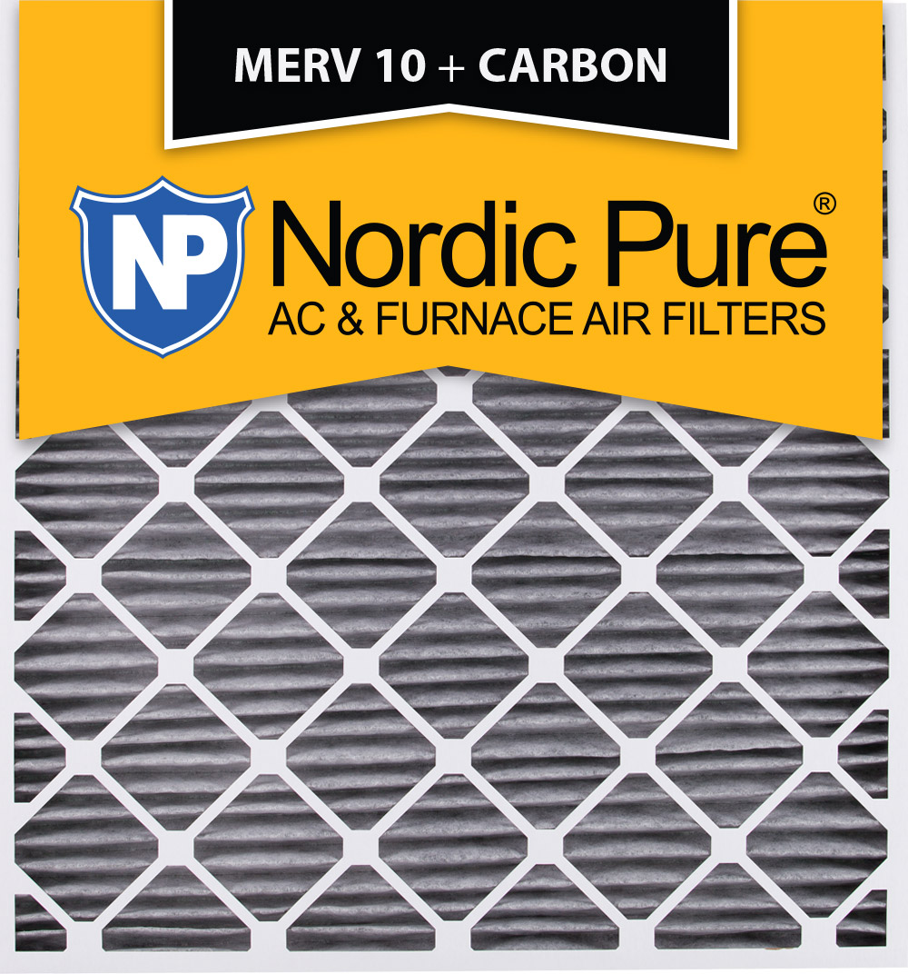 30x32x2 Geothermal MERV 10 Pleated Plus Carbon AC Furnace Air Filters Qty 3