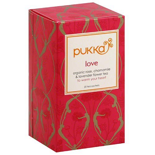 Pukka Love Herbal Tea, 1.41 oz, (Pack of 6)