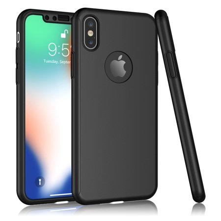 classic fit a5cb8 fd380 iPhone X Case, iPhone 10 Screen Protector, iPhone X Protective Case, Tekcoo  [T360] Full Body Protection Hard Slim Cover With Tempered Glass Screen ...