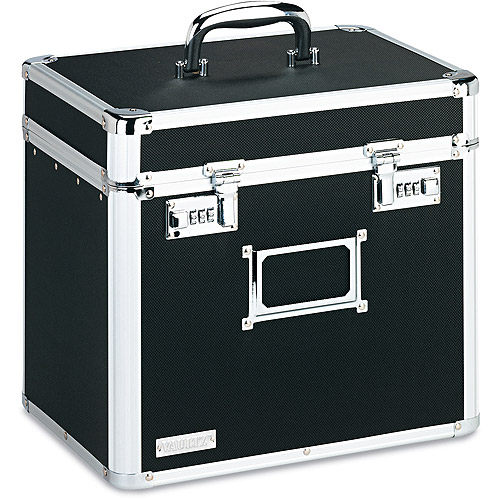 Vaultz Locking Security Storage Box, Letter, Black