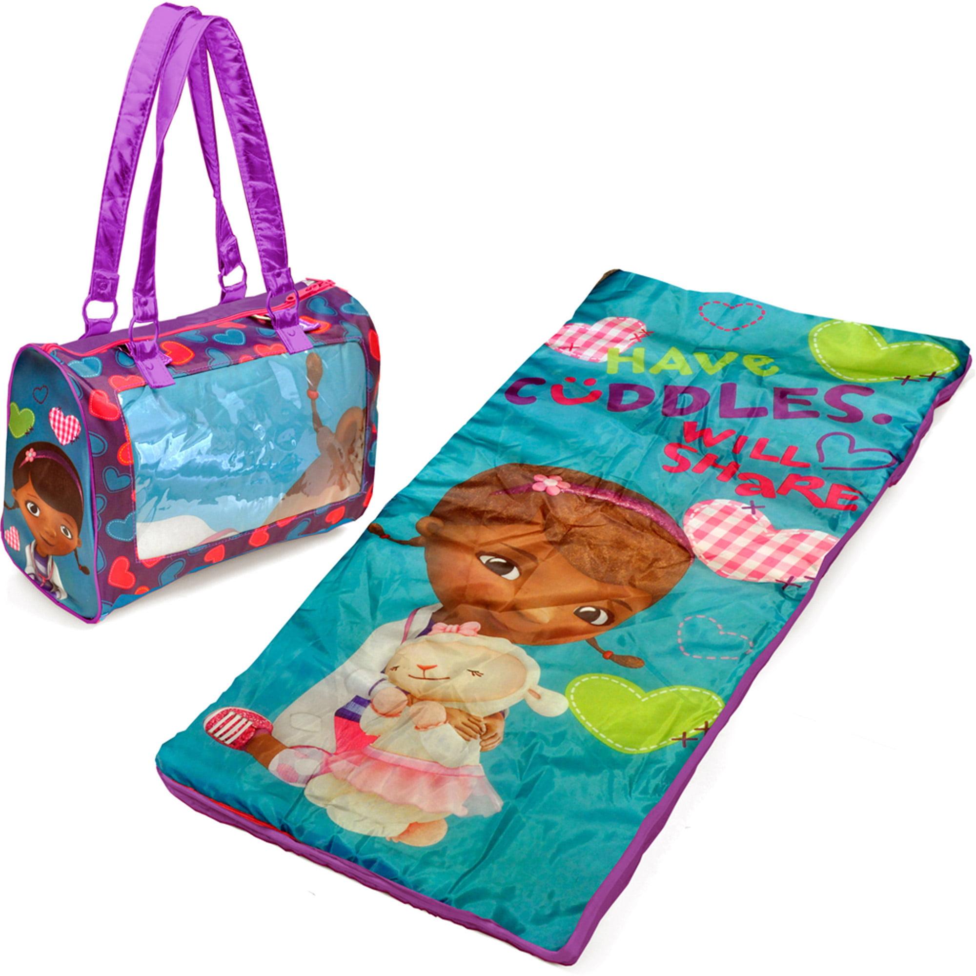 Disney Doc McStuffins Mini Sleepover Set/Nap Mat with BONUS Sling Bag