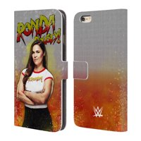 OFFICIAL WWE RONDA ROUSEY LEATHER BOOK WALLET CASE COVER FOR APPLE IPHONE PHONES