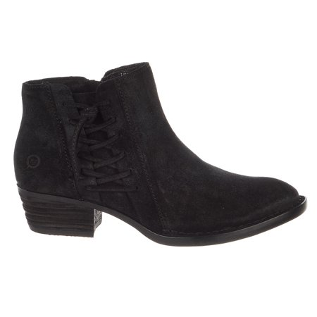Born Bessie Booties - Black Suede - Womens - (Born Leather Boots)