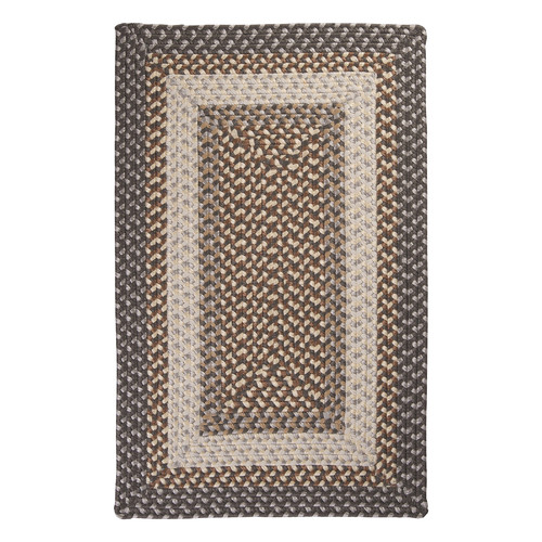 Colonial Mills TB49R Tiburon Indoor/Outdoor Braided Rug - Misted Gray