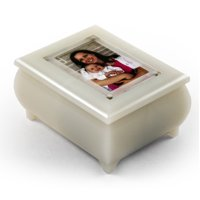 "3"" X 2"" Wallet Size Pearl Photo Frame Music Box With New Pop-Out Lens System - Your Song (Elton John)"