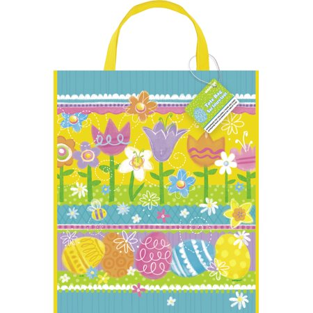 Unique Spring Theme Easter Egg Hunt Carrying Tote Plastic 13