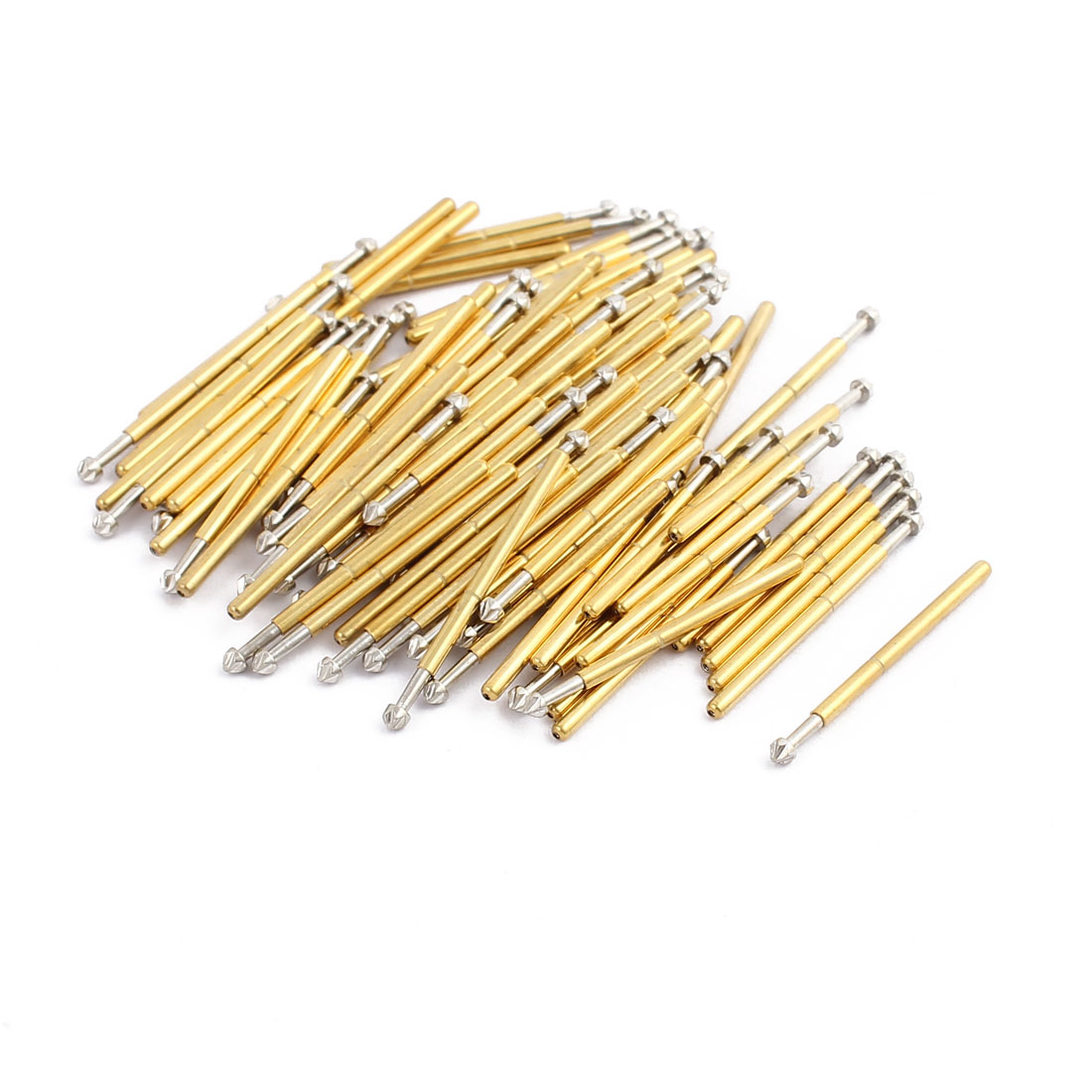 100pcs P160-LM3 1.36mm Dia 23mm Length Metal Spring Pressure Test Probe Needle