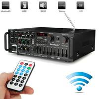 110V Home Audio Stereo Amplifier, AV power amplifier 1200W Digital Amplifier Audio Power Amplifier 2Channel Receiver FM Radio USB SD