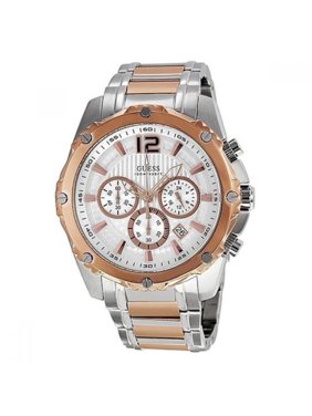 b94a148f3 Product Image Guess U0165G2 Men's Bold Two Tone Stainless Steel Chronograph  Sports Watch