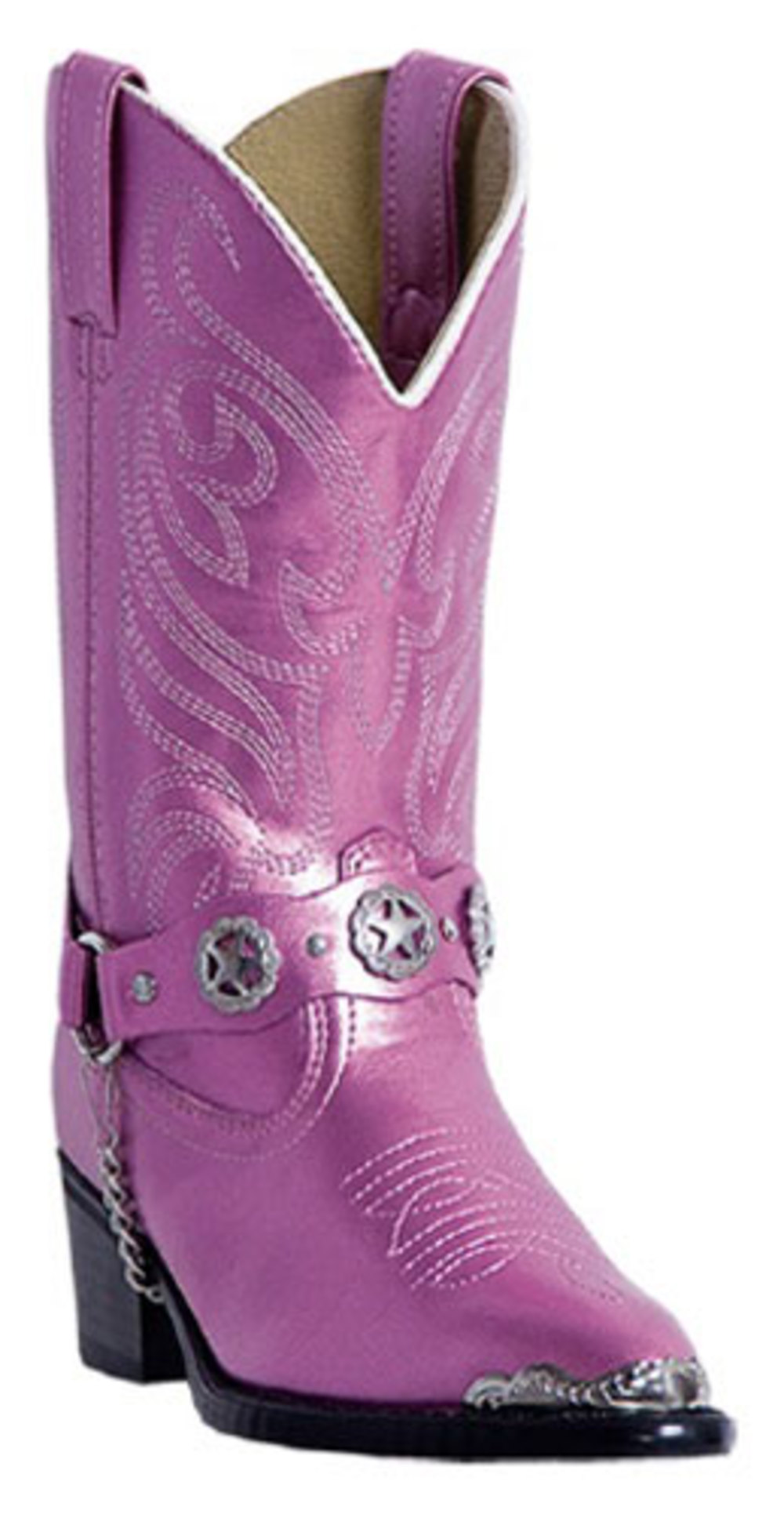 Laredo Kid's Boots Hot Pink Pearl 11 D by
