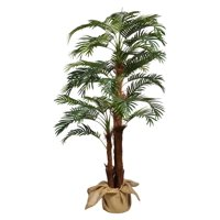"66""H Palm Tree Artificial Indoor/ Outdoor Faux Décor with Burlap Kit By Minx NY"