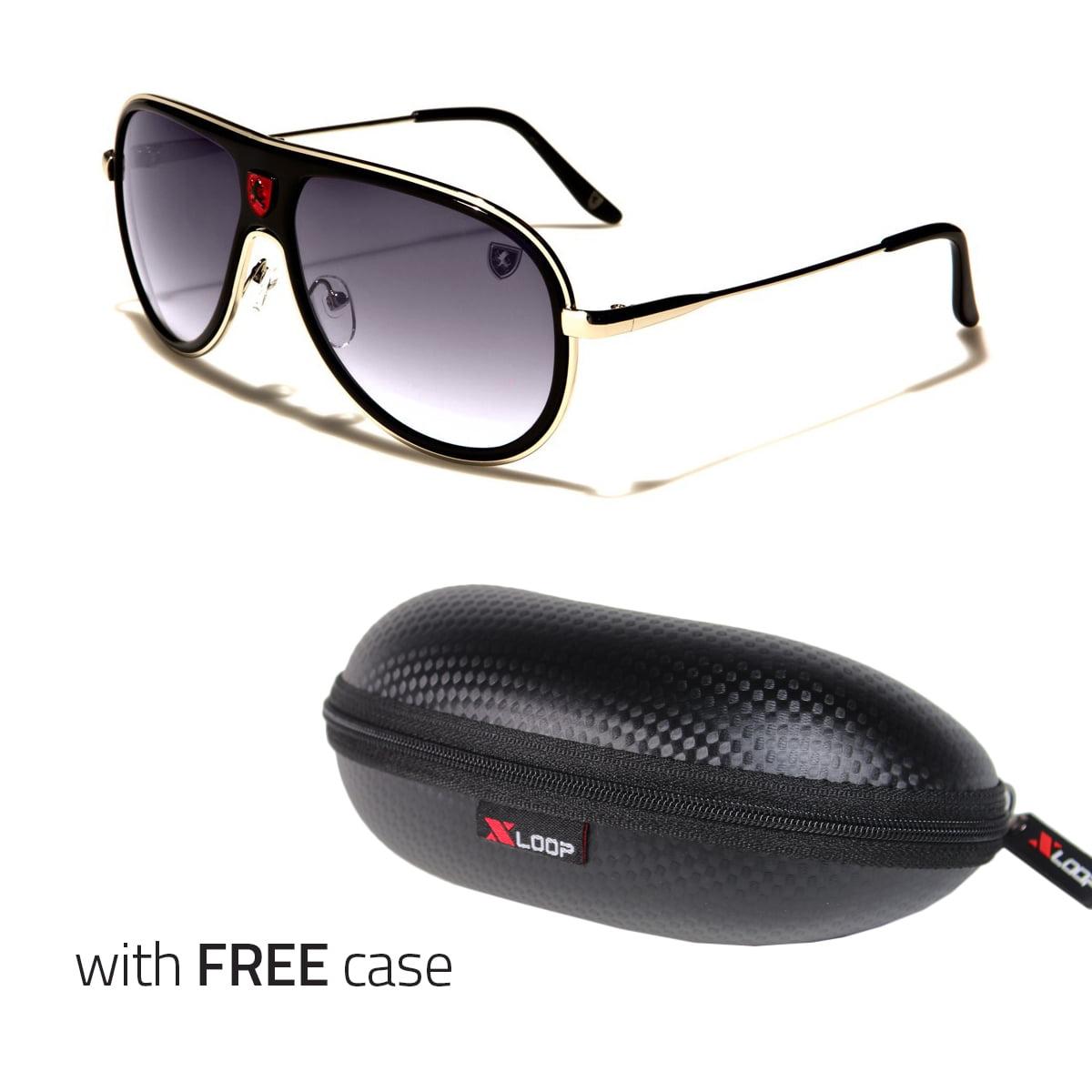 80s Classic Retro Mens Fashion Metal Aviator/'s Vintage Designer Sunglasses Black
