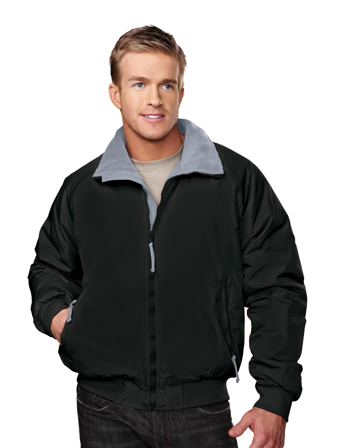 Tri-Mountain Mountaineer 8800 Nylon 3 Season Jacket, 2X-Large, Black/Black