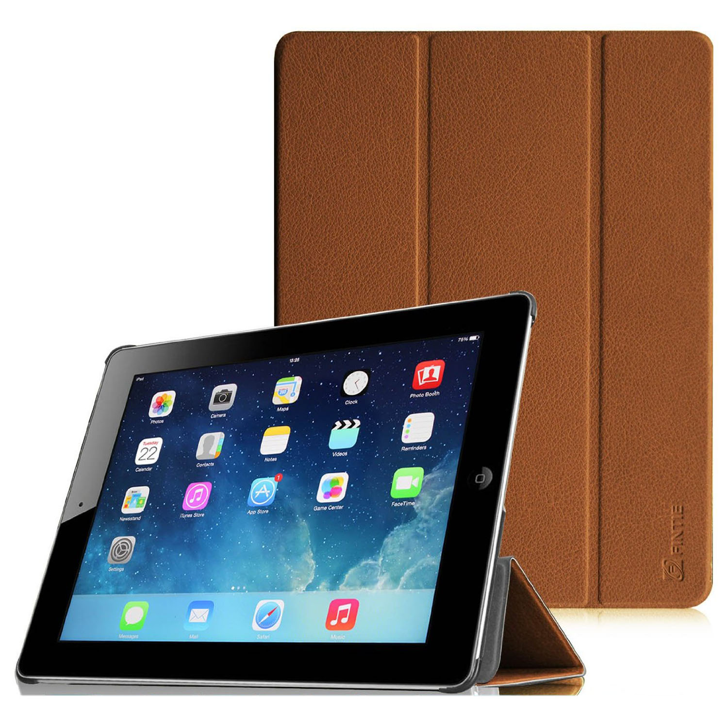 Fintie SmartShell Case for Apple iPad 4th Generation with Retina Display, iPad 3 & iPad 2, Brown