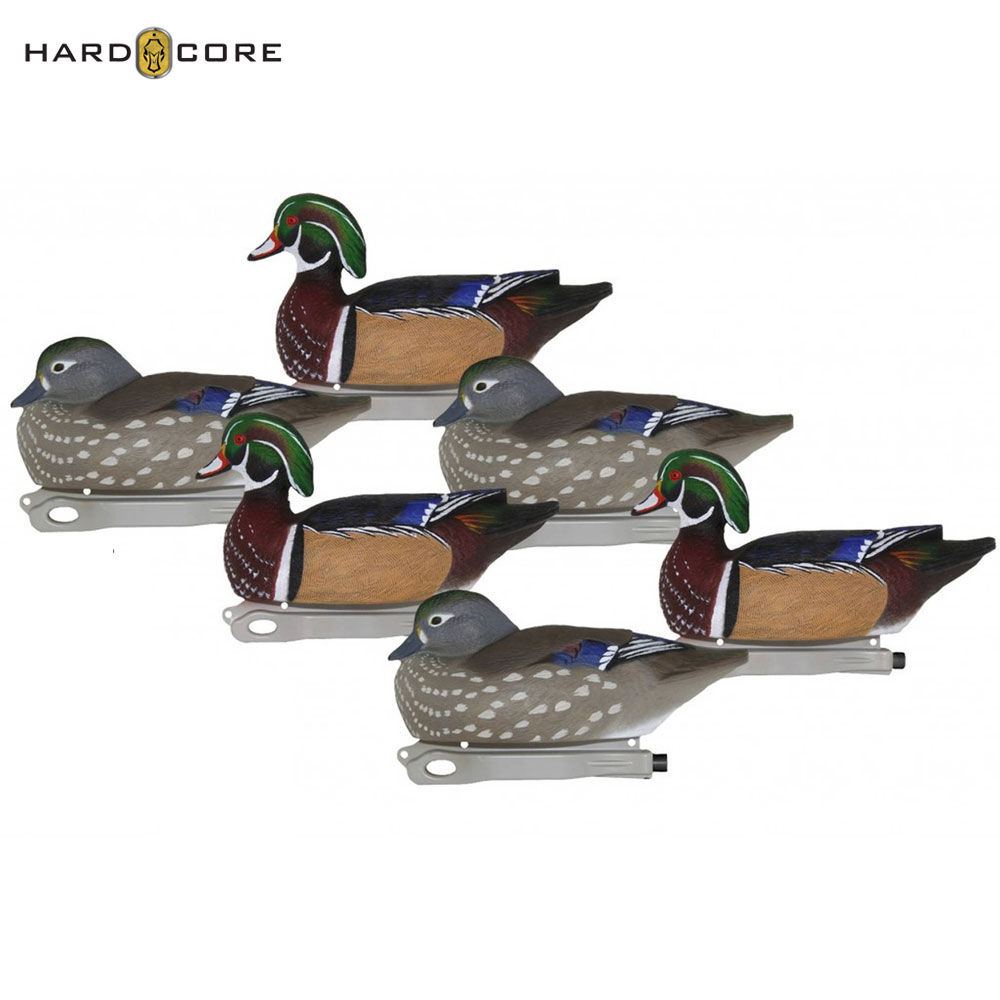 Hard Core Pro Pre-Rigged Wood Duck Decoys (Pk/6)