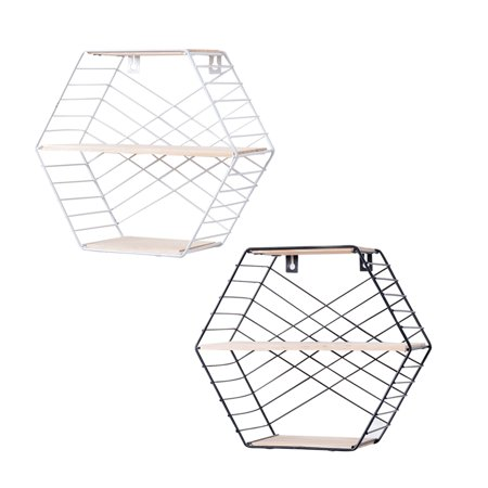 - Wire Basket Wall Mount, 2-Tier Wall Organizing Unit or Wire Baskets