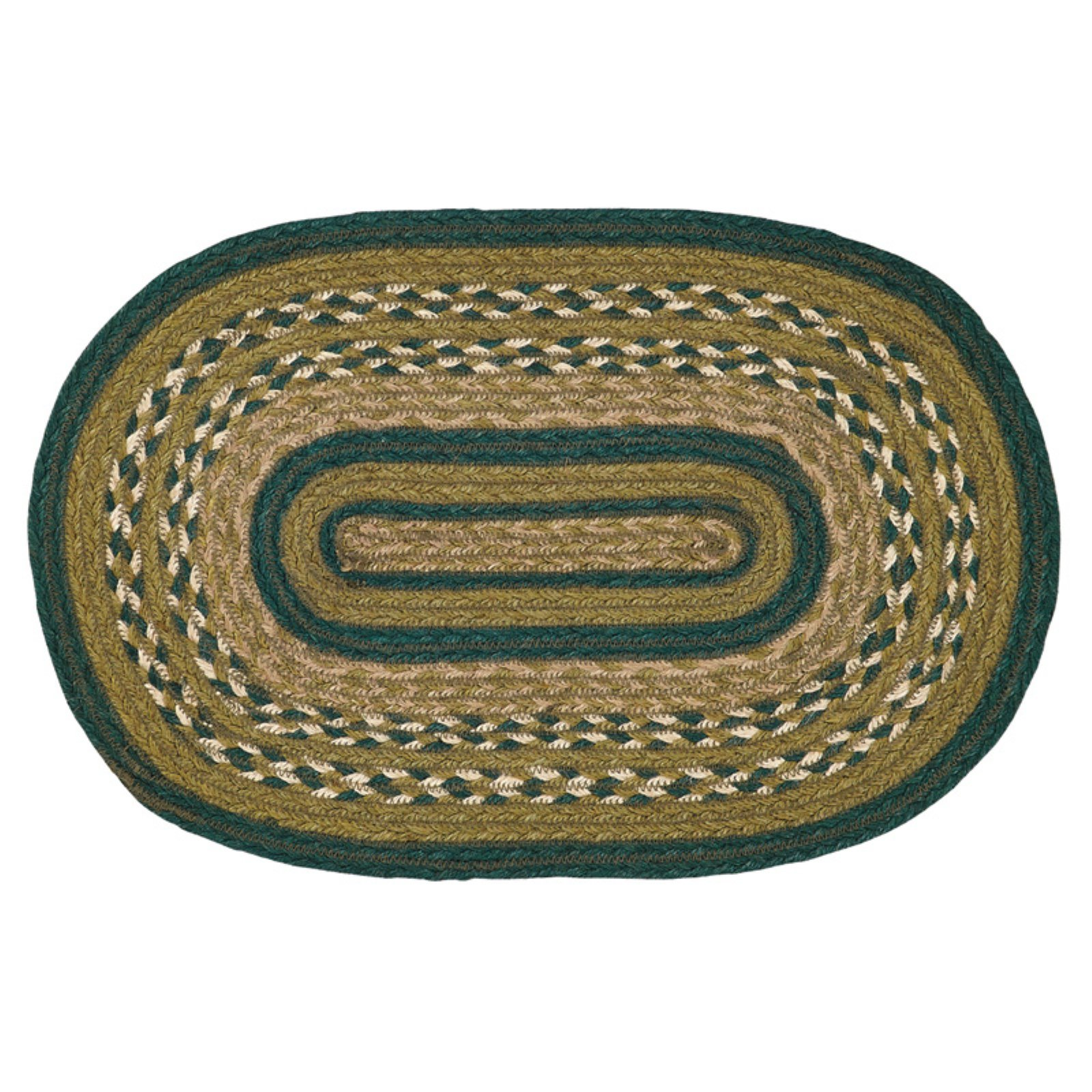 VHC Rustic & Lodge Tabletop & Kitchen Sherwood Jute Placemat Set of 6 by VHC Brands