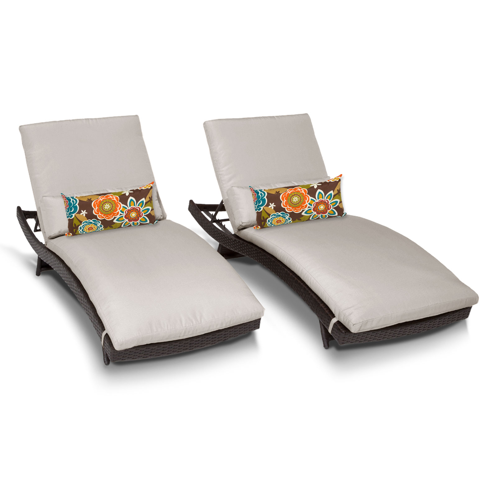 tahiti chaise set of 2 outdoor wicker patio furniture