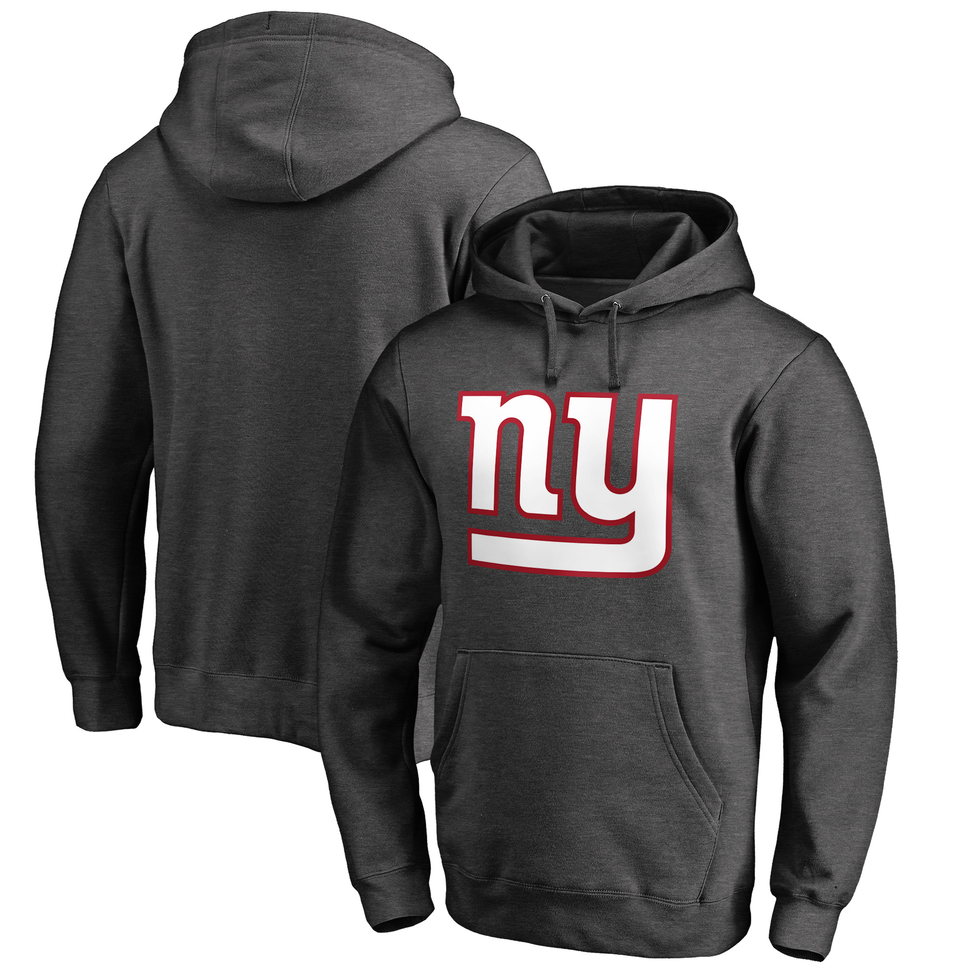New York Giants NFL Pro Line by Fanatics Branded Big And Tall Primary Logo Pullover Hoodie - Heathered Charcoal