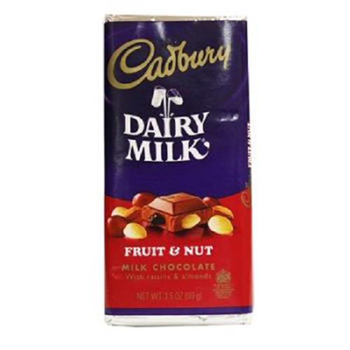 Product Of Cadbury, Fruit & Nut Bar, Count 1 - Chocolate Candy / Grab Varieties & Flavors