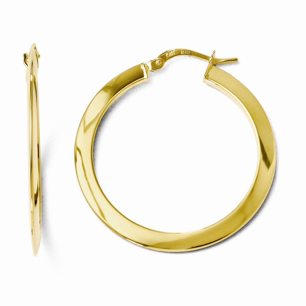 10k Yellow Gold 2.00mm Polished Hinged Hoop Earrings (1.2IN Diameter)