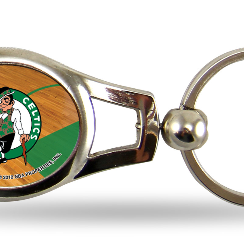 Boston Celtics Official NBA 2 inch  Oval Key Chain Keychain by Rico